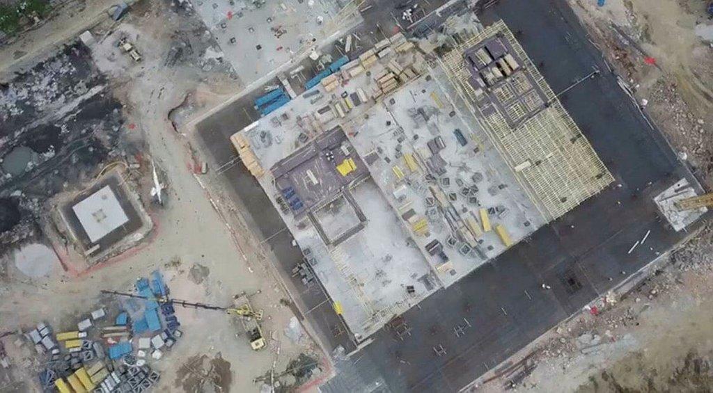 Kocaoğlu'nun stat eleştirilerine drone görüntülü yanıt