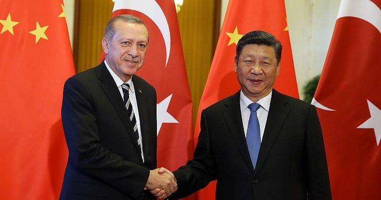 Başkan Erdoğan, Çin Devlet Başkanı ile telefonda görüştü