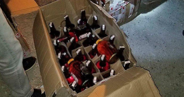 Kütahya'da tırda 95 şişe kaçak içki ele geçirildi