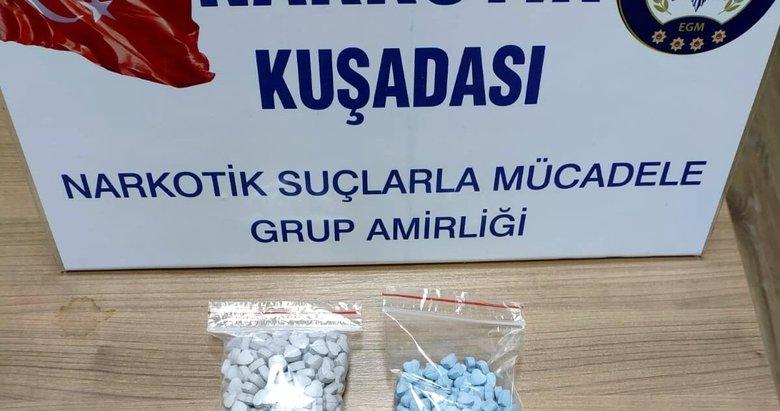 Otobüste 473 uyuşturucu hapla yakalandı