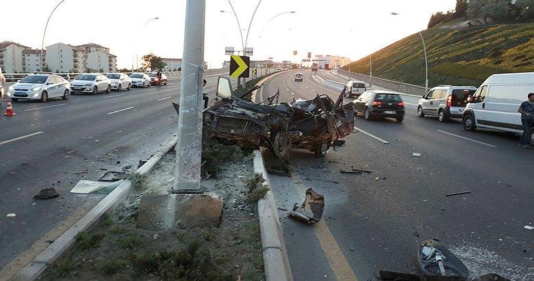 Ankarada ölümlü kazaya karışan aracı çekiciyle kaçırdılar