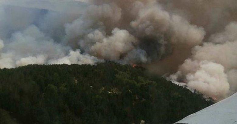 Kavaklıdere yangınında, verici istasyonu tehlikede