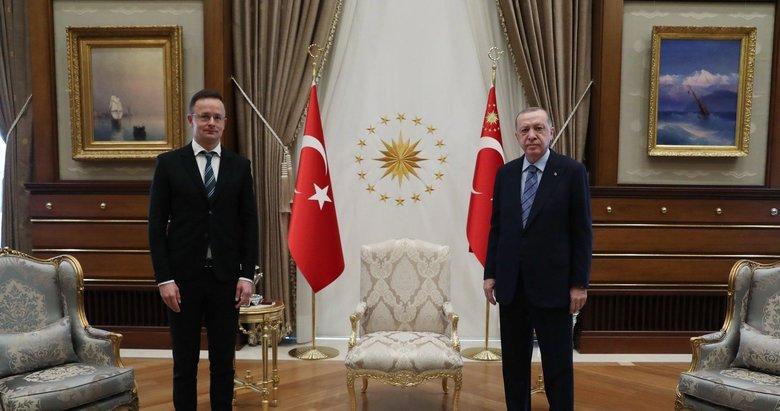 Başkan Erdoğan, Macaristan Dışişleri Bakanını kabul etti