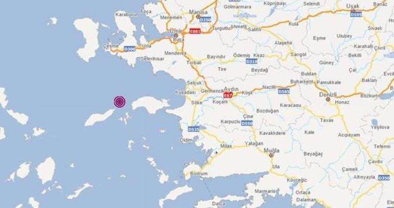 Ege Denizi'nde deprem! İzmir'den hissedildi...