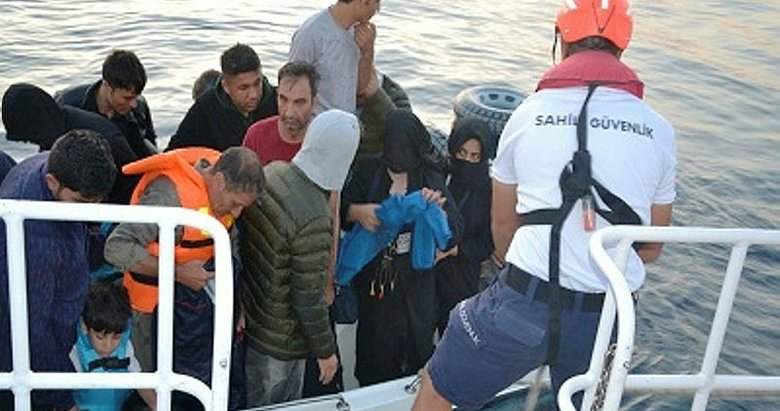 Balıkesir Ayvalık'ta 22 göçmen Sahil Güvenlik ekiplerine yakalandı
