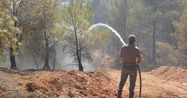 Uşak'ta ormanlık alanda çıkan yangın kontrol altına alındı