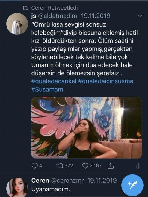 Evinin önünde bıçaklanarak katledilen Ceren Özdemir'in yürek burkan paylaşımı