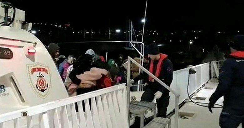 Aydın Kuşadası'nda 109 düzensiz göçmen yakalandı