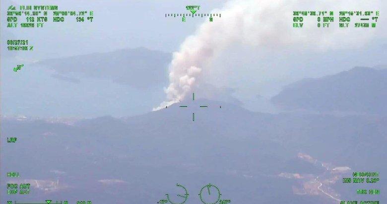 Marmaris'teki yangın İHA ile 57 kilometre uzaklıktan tespit edildi