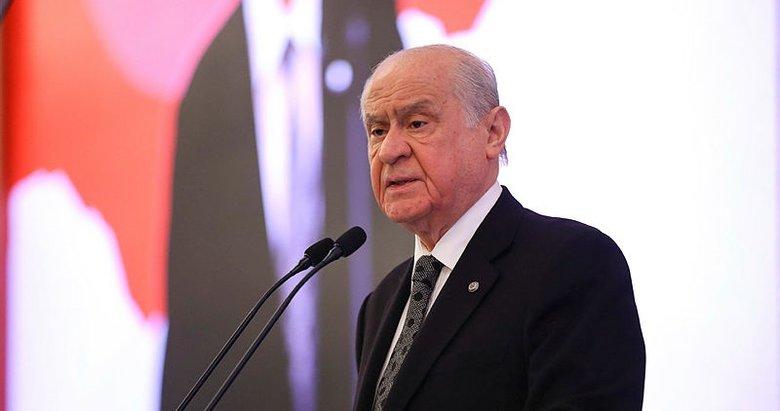 MHP lideri Devlet Bahçeli'den AP toplantısında PKK'lıların ağırlanmasına sert tepki