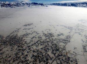 Gökyüzünden karla kaplı Türkiye manzaraları