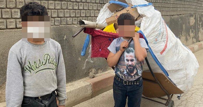 Atık toplayan çocuklar sokaktan kurtarıldı