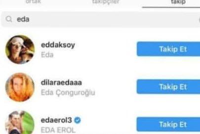 Buse Varol Alişan'ın eski nişanlısı Eda Erol'u takibe aldı!