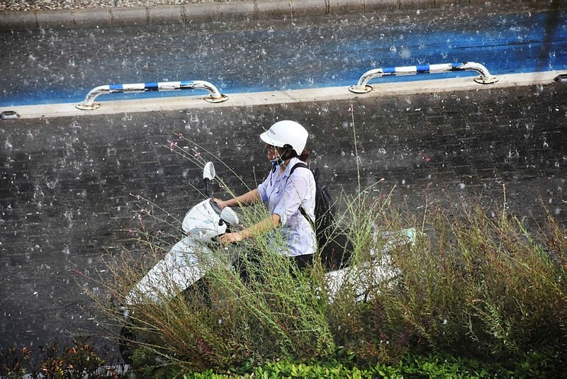 Marmaris'te yağmur sevinci
