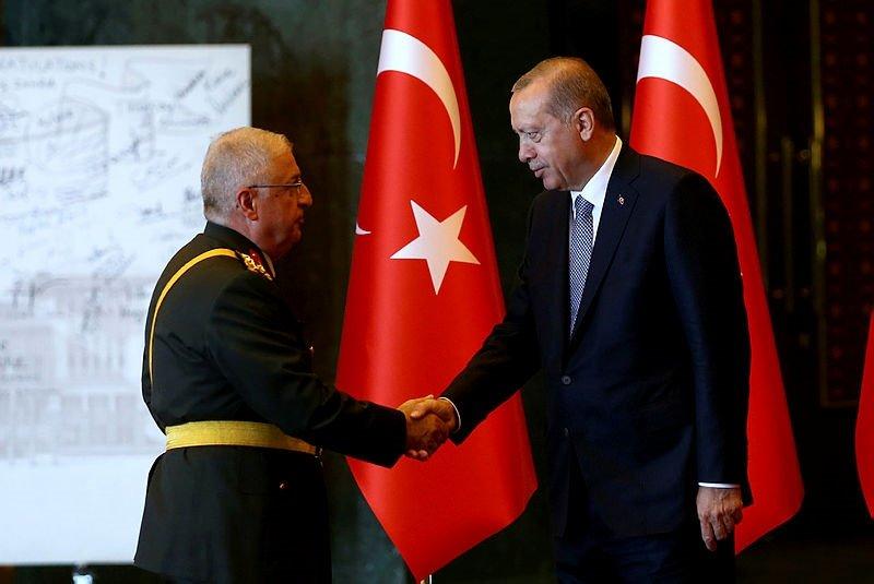 Başkan Erdoğan, Cumhurbaşkanlığı Külliyesinde kutlamaları kabul etti
