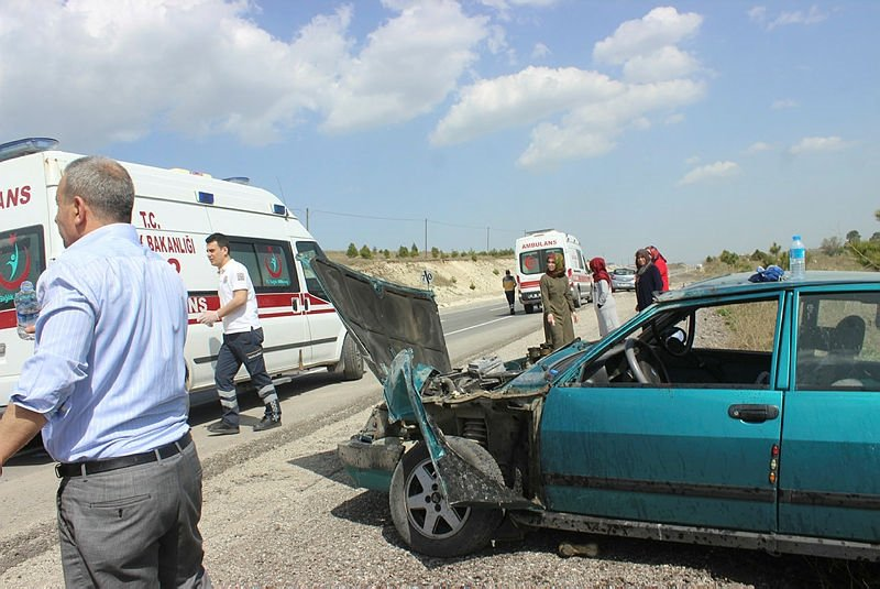 Kütahya'da korkunç kaza