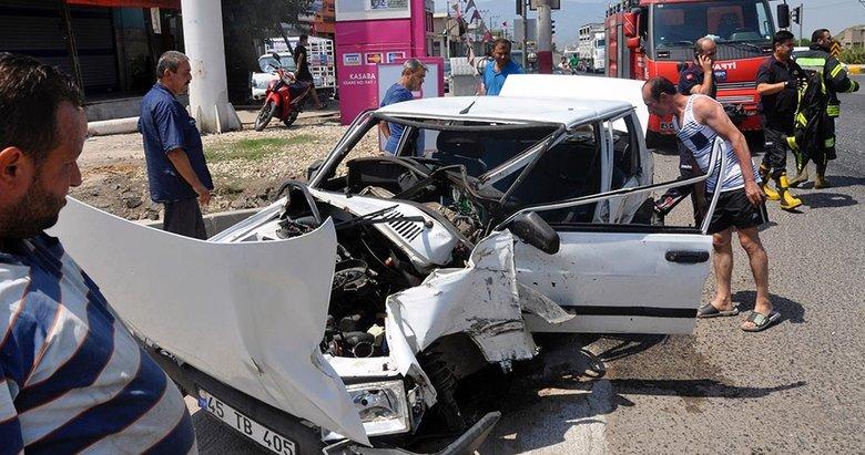 Manisa Ahmetli'de trafik kazası