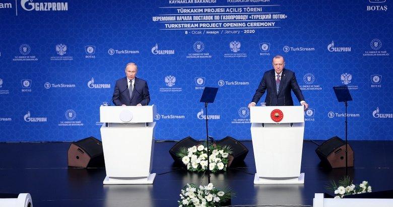 Tarihi gün! TürkAkım projesi açıldı! Erdoğan ve Putin'den önemli mesajlar
