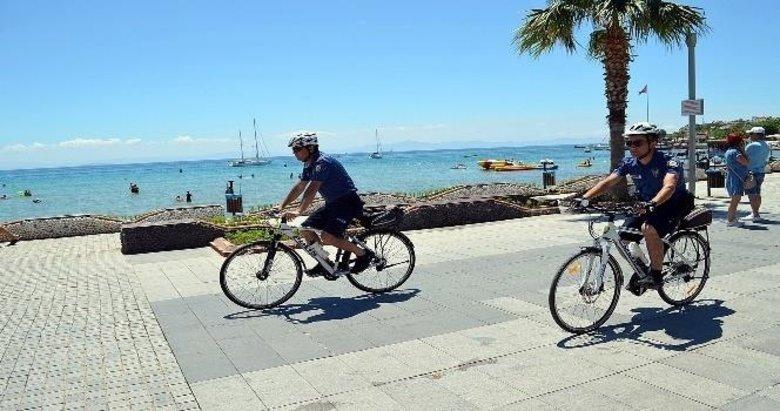 Didim'de bisikletli polisler görev başında