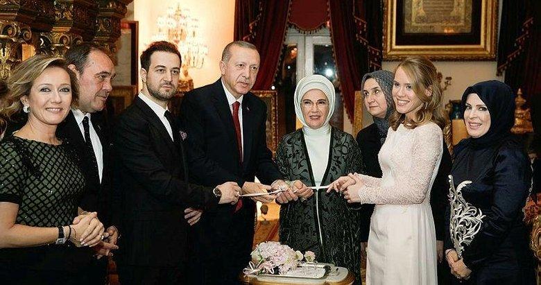 Kalyoncu ve Demirören ailesinin mutlu günlerine başkan Erdoğan ortak oldu