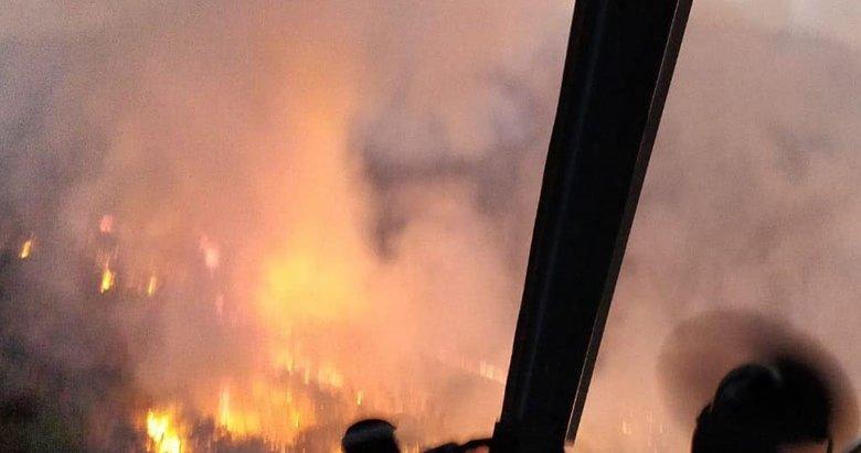 Turistik ilçede korkutan yangın