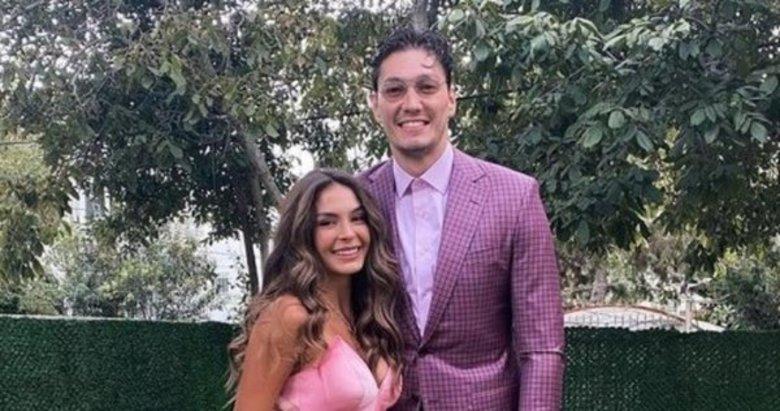 Ebru Şahin ve sevgilisi Cedi Osman düğünde dikkat çekti