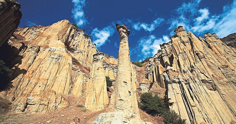 Türkiye'nin ilk jeoparkı Kula'da kısa bir mola
