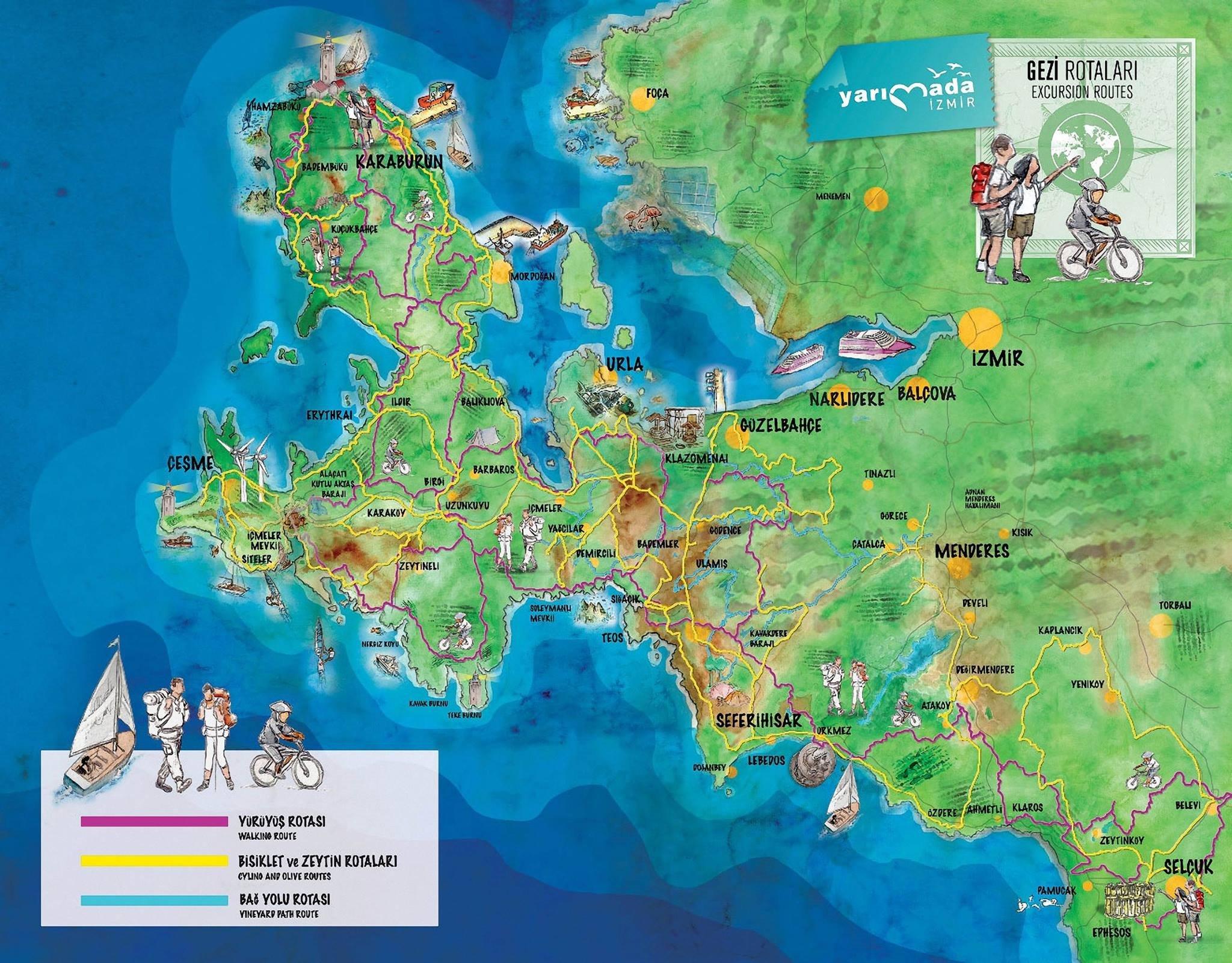 Tarihin peşinde bir İzmir gezi rotası Efes-Mimas Yolu