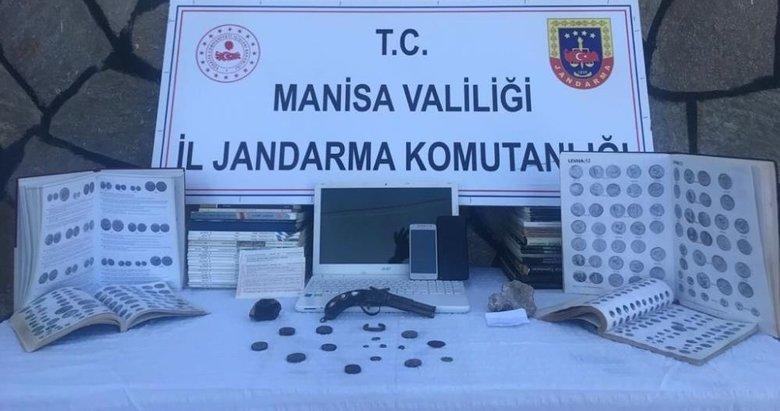Manisa'da tarihi eser kaçakçılarına operasyon