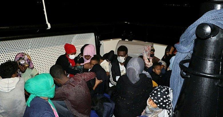 Ayvacık açıklarında 59 kaçak göçmen kurtarıldı