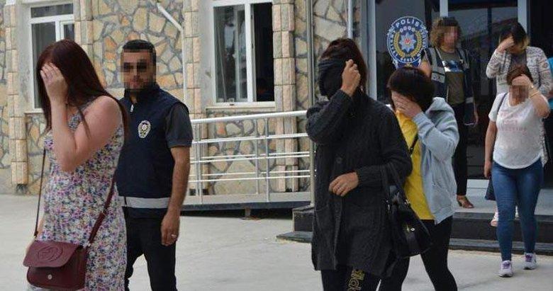 Didim'de 28 yabancı kadına fuhuş gözaltısı
