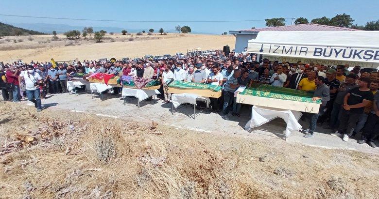 İzmir'de kazada ölen aynı köyden 6 kişi toprağa verildi