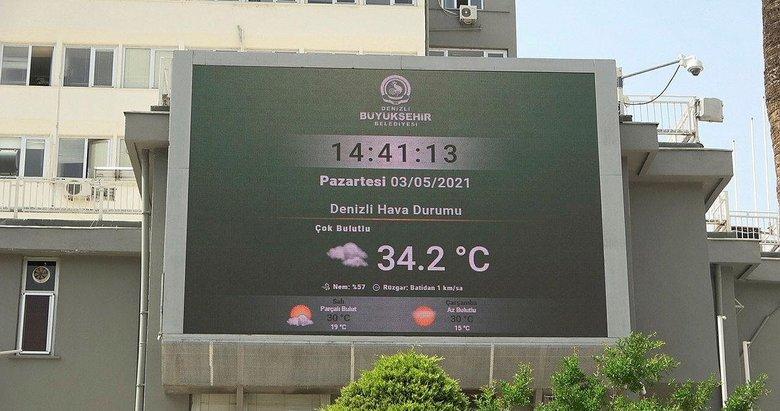Denizli'de Mayıs ayının başında yaz! Termometreler 34'ü gösterdi