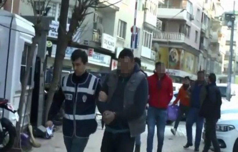 İzmir ödemiş'teki suç örgütü operasyonunda 8 kişi tutuklandı