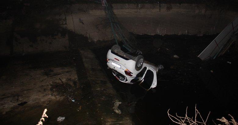 Aydın'da sulama kanalına uçan otomobilin sürücüsü kayıplara karıştı
