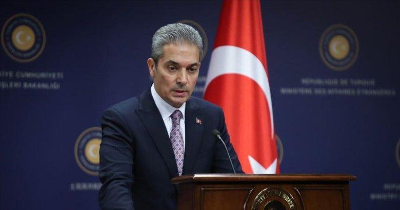 Dışişleri Bakanlığı Sözcüsü Aksoy: Sınırlarımızda bir oldubittiye hiçbir şekilde müsamaha gösterilmeyecektir