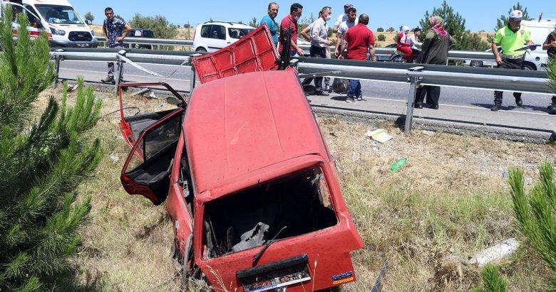 Uşak'ta trafik kazası:1 ölü, 6 yaralı