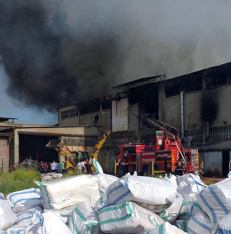 Uşak'ta tekstil atölyesinde yangın