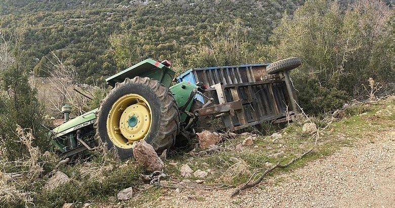 Muğla'da durdurmaya çalıştığı traktörün altında kaldı
