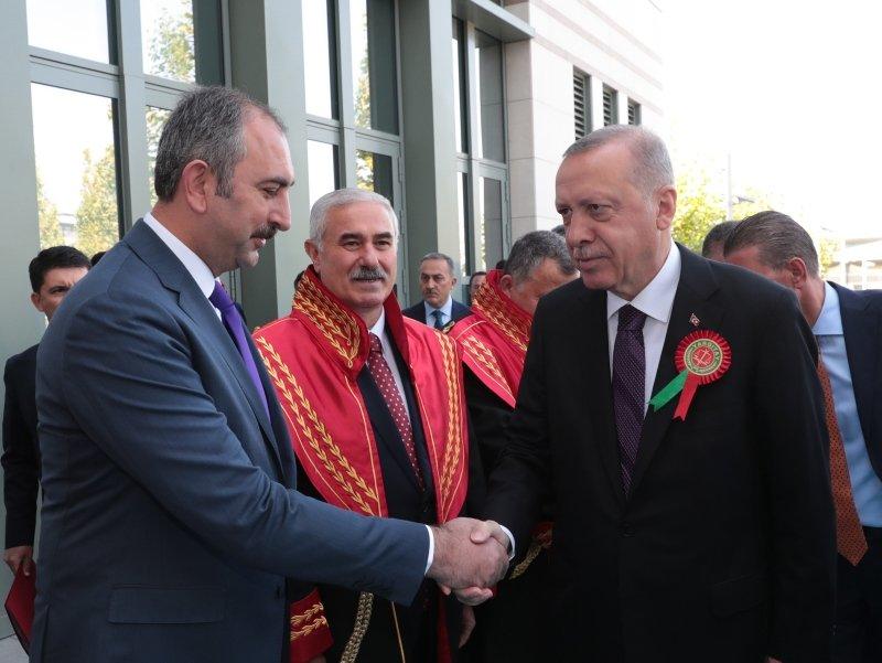 2019-2020 Adli Yıl Açılış Töreni'nde dikkat çeken kare! Başkan Erdoğan...