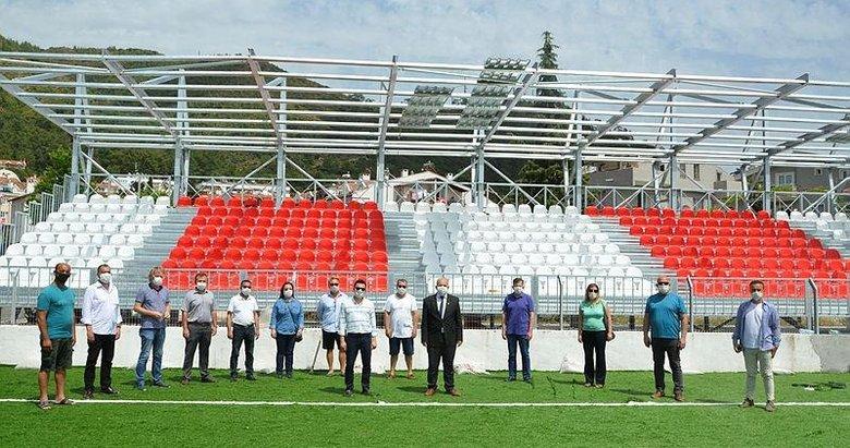 Marmaris şehir stadyumu için son hazırlıklar tamamlanıyor