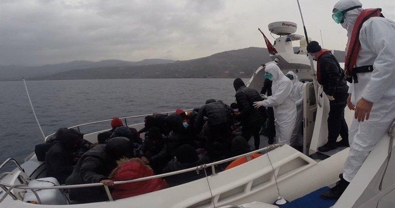 Yunan güvenlik güçlerinin ölüme terk ettiği 26 kaçak göçmen kurtarıldı