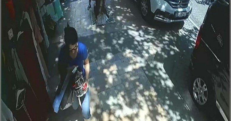 Denizli'de çaydanlık seti çaldığı mağazadan bu defa tencere seti çaldı