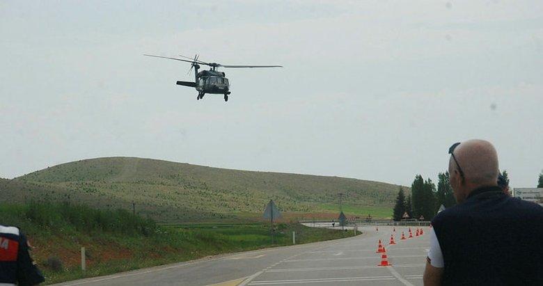 Afyonkarahisar'da jandarmadan helikopter destekli denetim