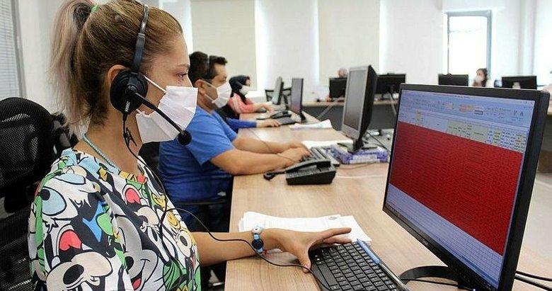 Denizli'de Kovid Çağrı Merkezi evde tedavi olan hastaları tek tek kontrol ediyor