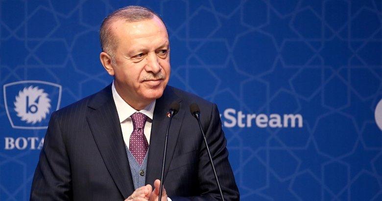 Başkan Erdoğan'dan 'TürkAkım' paylaşımı