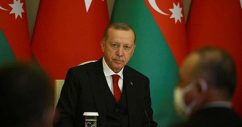 Başkan Erdoğan'dan Azerbaycan dönüşü önemli mesajlar
