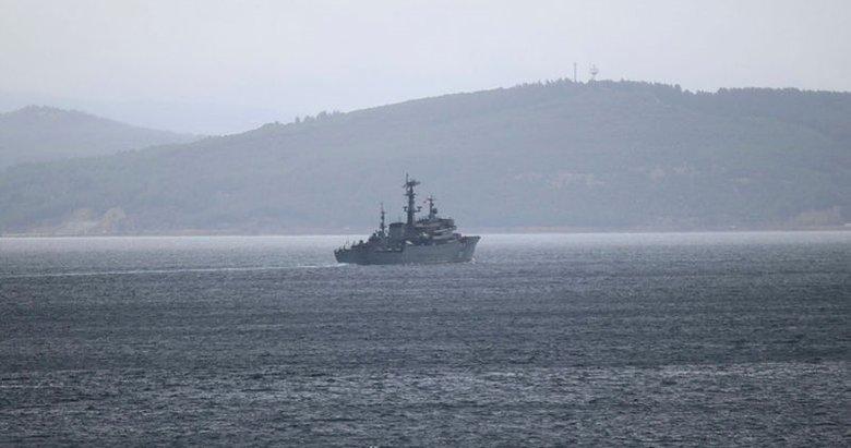 Rus savaş gemisi 'Perekop' Çanakkale Boğazı'ndan geçti