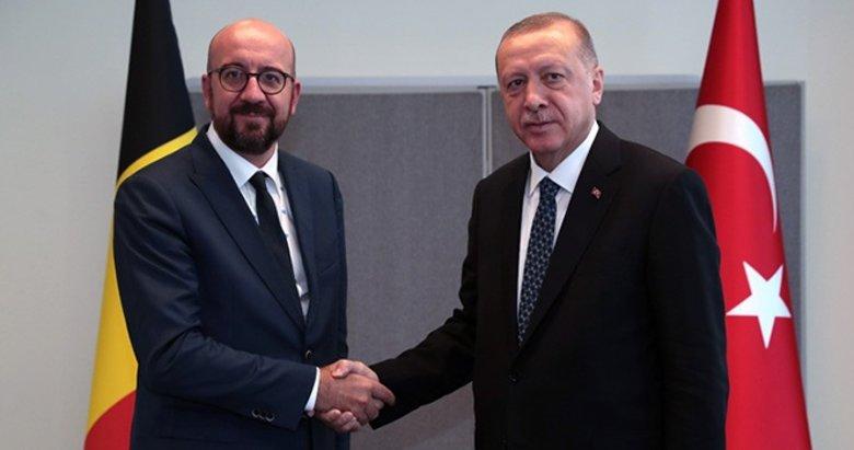 Başkan Erdoğan AB Konseyi Başkanı Michel ile görüştü