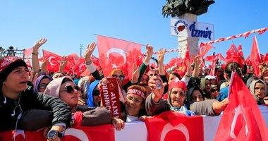 İzmir Gündoğdu Meydanı'nda Cumhur İttifakı coşkusu